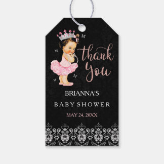 It's a Girl Princess Girl Baby Shower Gift Tags