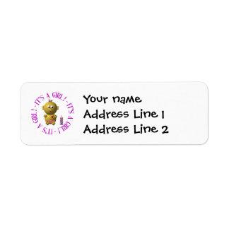 It's a girl! return address label