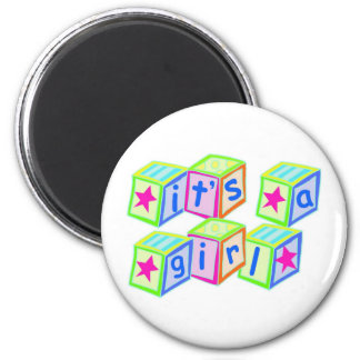It's a Girl! - Round Magnet