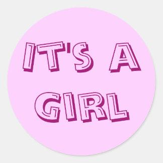 It's a Girl Sticker Seals