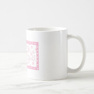 It's a girl - teddy bear basic white mug