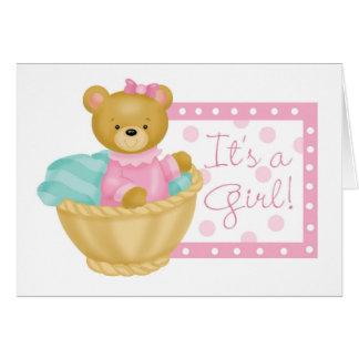 It's a girl - teddy bear greeting card
