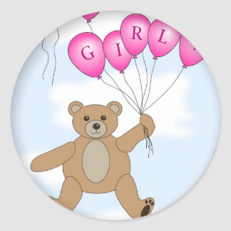 It's a Girl Teddy Bear sticker
