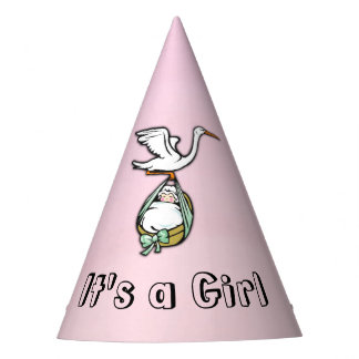 It's a Girl the Stork is Bringing  Baby Party Hat