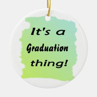 It's a graduation thing! round ceramic decoration