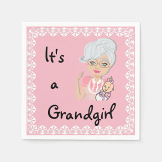 It's a Grandgirl Napkins Disposable Napkins