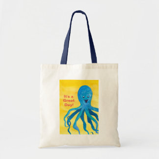It's A Great Day Blue Octopus