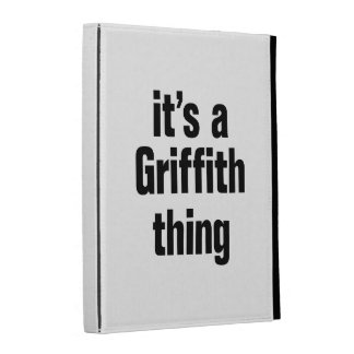 its a griffith thing iPad folio case