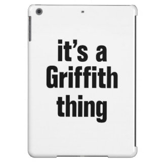 its a griffith thing cover for iPad air