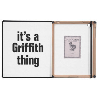 its a griffith thing iPad cover