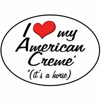 It's a Horse! I Love My American Creme Photo Cutout
