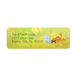 It's A Jungle Baby Shower Return Address Label