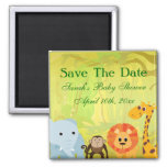It's A Jungle Baby Shower Square Magnet