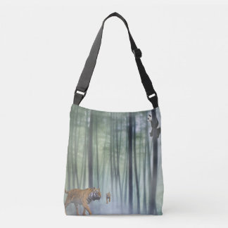 it's a jungle out there crossbody bag
