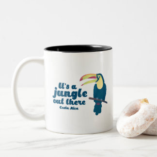 It's a Jungle Out There Toucan Costa Rica Coffee Two-Tone Coffee Mug