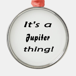 It's a jupiter thing! Silver-Colored round decoration