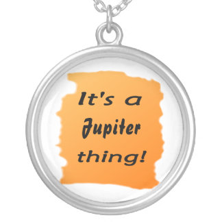 It's a jupiter thing! round pendant necklace