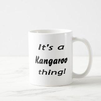 It's a kangaroo thing! coffee mugs