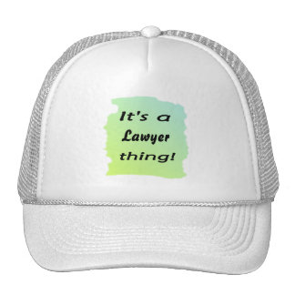It's a lawyer thing! mesh hat