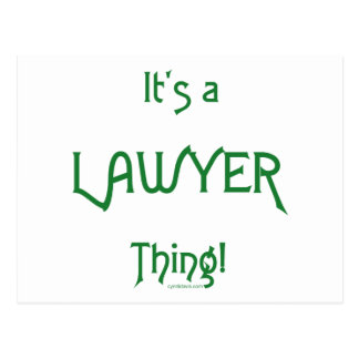 It's a Lawyer Thing! Postcard