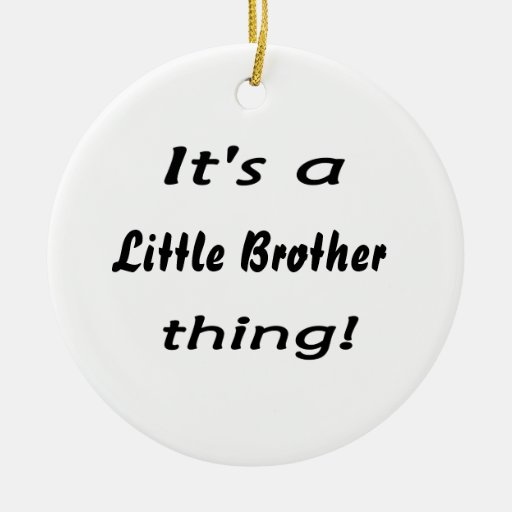 It's a little brother thing! christmas ornaments