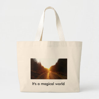 It's a magical world tote bag