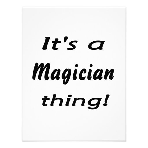 It's a magician thing! invitations
