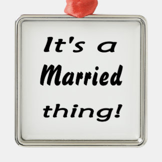 It's a married thing! Silver-Colored square decoration