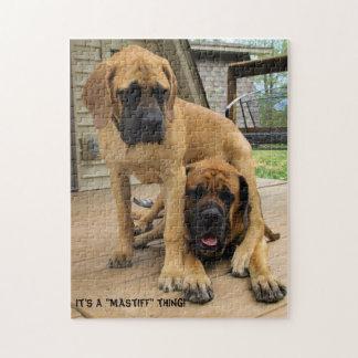 """It's a """"Mastiff"""" thing! English Mastiff dog puzzle"""