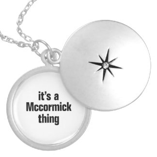 its a mccormick think round locket necklace