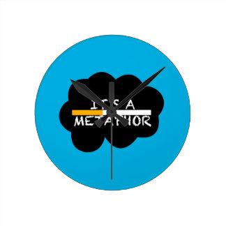 It's a Metaphor Round Clock