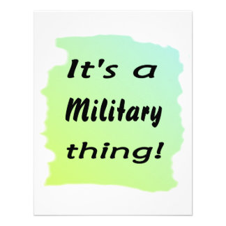 It's a military thing! announcement