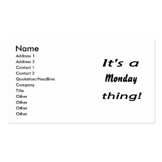 It's a monday thing! business cards