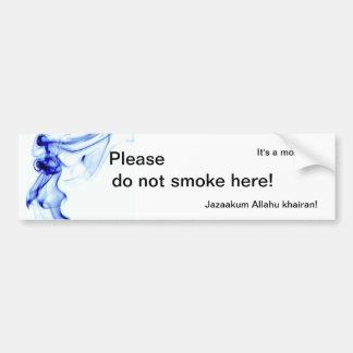 It's a mosque - Please do not smoke here! Car Bumper Sticker