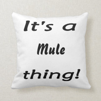It's a mule thing! cushion