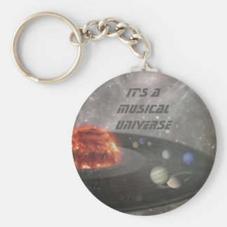 It's a Musical Universe Basic Round Button Key Ring