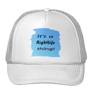 It's a nightlife thing! mesh hat