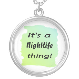 It's a nightlife thing! round pendant necklace
