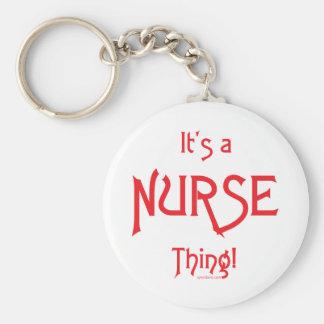 It's a Nurse Thing! Basic Round Button Key Ring
