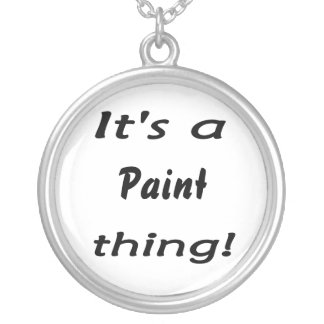 It's a paint thing! round pendant necklace