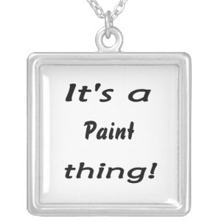 It's a paint thing! square pendant necklace