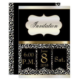 It's a Party Celebration in Leopard | Invitation