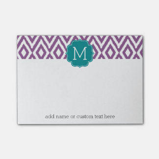 It's a Party - Ikat Pattern with Custom Monogram Post-it® Notes