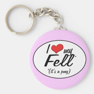 It's a Pony! I Love My Fell Basic Round Button Key Ring