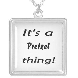 It's a pretzel thing! square pendant necklace