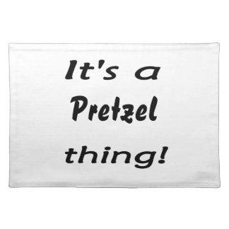 It's a pretzel thing! place mats