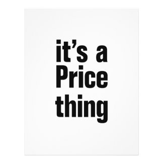 """its a price thing 8.5"""" x 11"""" flyer"""