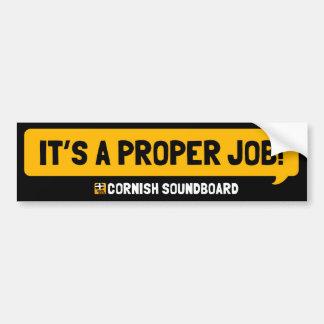 It's A Proper Job! A Cornish Soundboard Sticker