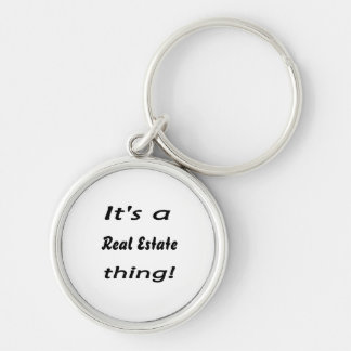 It's a real estate thing! Silver-Colored round key ring