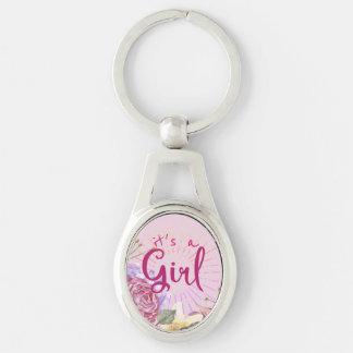 It's a Rose Quartz, Starburst, Pretty in Pink Girl Key Ring